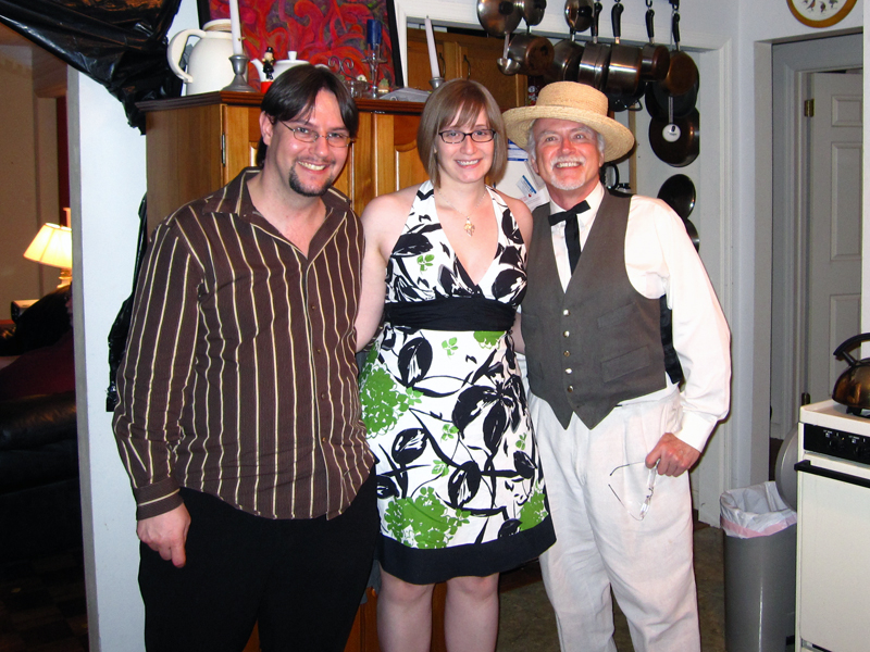 Russell, Jenny and Roy, 2009 Derby Day