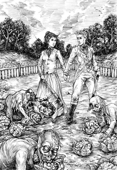 From Pride and Prejudice and Zombies, published by Quirk Books.