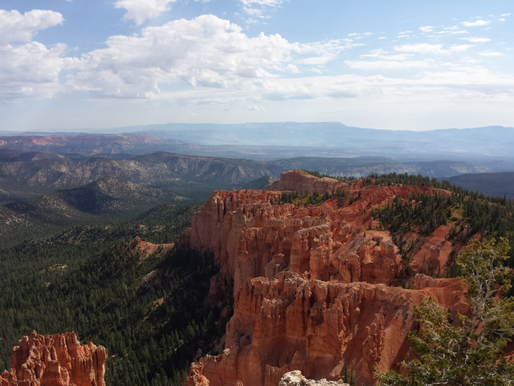 View from Rainbow Point overlook, Bryce Canyon, elevation 9115 feet