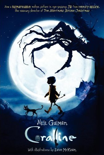 A girl walks through the dark, silhouetted by the large, bright moon.